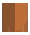 Einfacher Holzschild